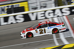 March 2, 2018 - Las Vegas, Nevada, United States of America - March 02, 2018 - Las Vegas, Nevada, USA: Paul Menard (21) brings his race car down the front stretch during practice for the Pennzoil 400 at Las Vegas Motor Speedway in Las Vegas, Nevada. (Credit Image: © Chris Owens Asp Inc/ASP via ZUMA Wire)