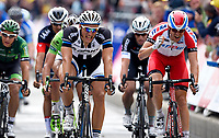 Sykkel<br /> 08.07.2014<br /> Foto: PhotoNews/Digitalsport<br /> NORWAY ONLY<br /> <br /> KITTEL Marcel GER of Team Giant-Shimano - KRISTOFF Alexander of Team Katusha  during stage 4 of the 101th edition of the Tour de France 2014 from Le Touquet to Lille Métropole (163,5 km)