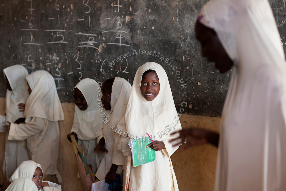 Muslims children are attending class in Angwan Rogo government school, an institution open to pupils of any religion, but today only attended by Muslims, as it is located inside a Muslim-dominated neighbourhood where no Christian live anymore.