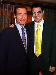 Left to right, the HON.ROBERT HANSON and the HON.LUCAS WHITE, at a fashion show in London on 28th September 1999.MWW 68
