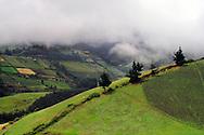 Driving on the winding roads near Cayambe, Ecuador.