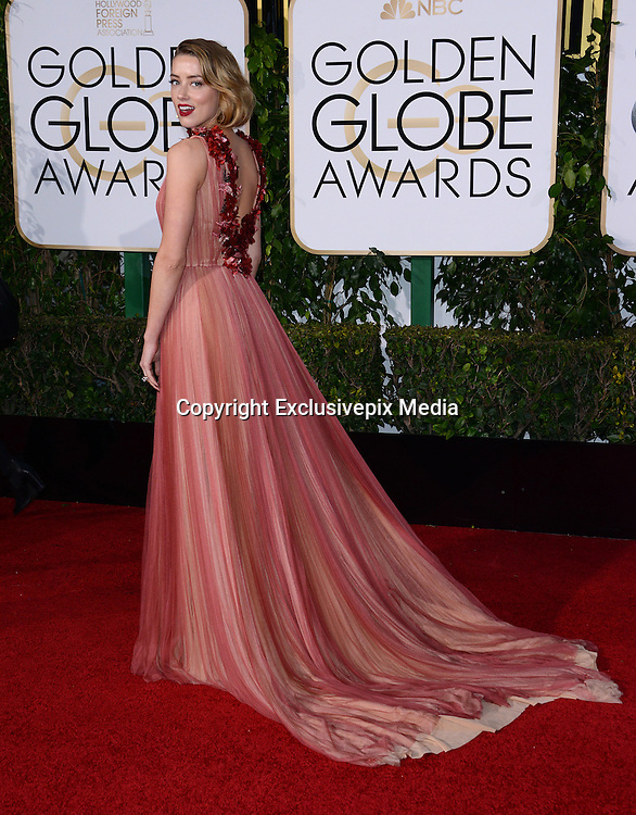 AMBER HEARD@ the 73rd Annual Golden Globe awards held @ the Beverly Hilton hotel.<br /> ©Exclusivepix Media