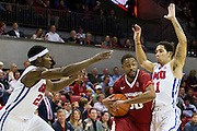 DALLAS, TX - NOVEMBER 25: Rashad Madden #00 of the Arkansas Razorbacks drives to the basket against the SMU Mustangs on November 25, 2014 at Moody Coliseum in Dallas, Texas.  (Photo by Cooper Neill/Getty Images) *** Local Caption *** Rashad Madden