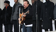 """John Mellencamp performs  at the """"We Are One""""  The Obama Inaugural Celebration at the Lincoln Memorial on January 18, 2009.  Photo by Dennis Brack"""