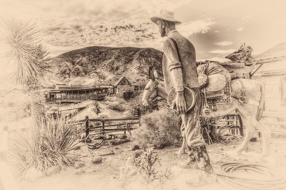 In the Calico Ghost Town