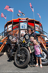 The Ives Brothers and family at the Wall of Death during the annual Sturgis Black Hills Motorcycle Rally.  SD, USA.  August 7, 2016.  Photography ©2016 Michael Lichter.