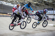 #1 (ANDRE Sylvain) FRA during practice at the 2019 UCI BMX Supercross World Cup in Manchester, Great Britain