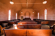 Interior of the Methodist Church, Bodie State Historic Park, California USA