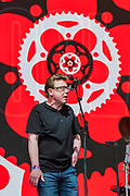 The Proclaimers play the Pyramid Stage in front of fans dressed in Tartan and other outfits - The 2019 Glastonbury Festival, Worthy Farm, Glastonbury.