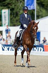 Garcia Mena Jose Antonio (ESP) - Doctor de Encinasola<br /> FEI World Dressage Championships for Young Horses<br /> Internationales Dressur- und Springfestival - Verden 2014<br /> © Dirk Caremans