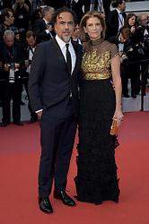 May 17, 2019 - Cannes, France - 72nd Cannes Film Festival 2019, Red Carpet film : Dolor y gloria.Pictured: Alejandro Gonzalez Inarritu, Maria Eladia Hagerman (Credit Image: © Alberto Terenghi/IPA via ZUMA Press)