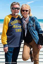 Two-Wheelers Arlin Fatland and Donn Maupin at the annual Boardwalk Bike Show during Daytona Bike Week. FL. USA. Friday March 16, 2018. Photography ©2018 Michael Lichter.