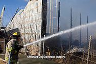 63818-02312 Firefighters extinguishing warehouse fire, Salem, IL