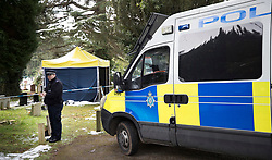 © Licensed to London News Pictures. 20/03/2018. Salisbury, UK. A police evidence tent covers the grave of Liudmila Skripal, wife of former Russian spy Sergei Skripal, in the cemetery in Salisbury. Police activity at the cemetery appears to have been scaled back. Former Russian spy Sergei Skripal, his daughter Yulia are still critically ill after being poisoned with nerve agent. The couple where found unconscious on bench in Salisbury shopping centre. Authorities continue to investigate. Photo credit: Peter Macdiarmid/LNP