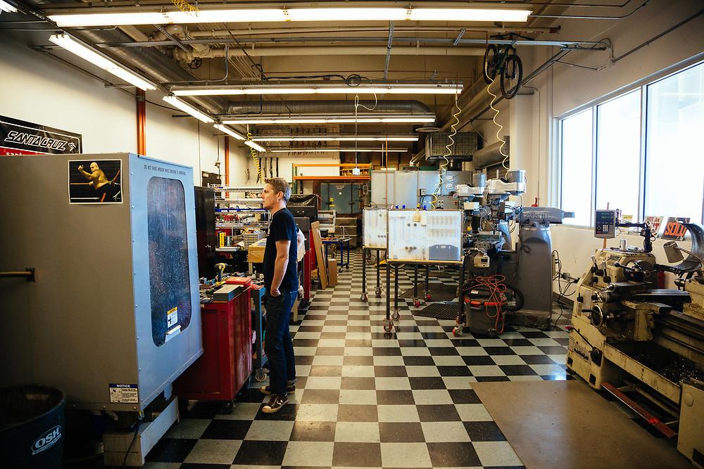 The machine shop at Santa Cruz bicycles.