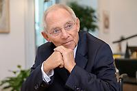 06 NOV 2019, BERLIN/GERMANY:<br /> Wolfgang Schaeuble, CDU, Bundestagspraesident, waehrend einem Interview, in seinem Buero, Reichstagsgebaeude, Deutscher Bundestag<br /> IMAGE: 20191106-02-025<br /> KEYWORDS: Wolfgang Schäuble