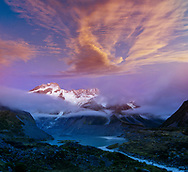 Oceania; New Zealand; Aotearoa; South Island; Southern Alps; Mount Cook; National Park; Mount Sefton; (m)