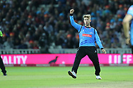 Sussex's Will Beer gets a wicket during the final of the Vitality T20 Finals Day 2018 match between Worcestershire rapids and Sussex Sharks at Edgbaston, Birmingham, United Kingdom on 15 September 2018.