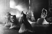 Birmingham Royal Ballet (BRB) corps wilis in Galina Samsova's Giselle, Act II. Music: Adolphe Adam.