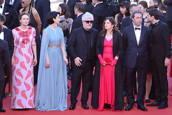 Jury members Will Smith, Agnes Jaoui, President of the jury Pedro Almodovar and jury members Paolo Sorrentino, Fan Bingbing, Park Chan-wook, Gabriel Yared, Maren Ade and Jessica Chastain arriving at Les Fantomes d'Ismael screening and opening ceremony held at the Palais Des Festivals in Cannes, France on May 17, 2017, as part of the 70th Cannes Film Festival. Photo by Aurore Marechal/ABACAPRESS.COM