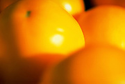 Extreme close up, selective focus photograph of Yellow Low Acid tomatoes