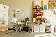 CAPANNORI, Tuscany, founder Rossano ERCOLINI  founder of Centro di Ricerca Rifiuti Zero in his office.