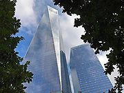 Low angle view of the Freedom Tower, or One World Trade Center in New York City
