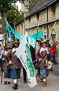Historic re-enactment of the Levellers, of the New Model Army in Oliver Cromwell era, Burford, The Cotswolds