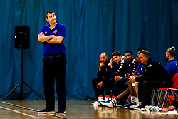 Bristol Flyers head coach Andreas Kapoulas - Photo mandatory by-line: Robbie Stephenson/JMP - 10/04/2019 - BASKETBALL - UEL Sports Dock - London, England - London Lions v Bristol Flyers - British Basketball League Championship