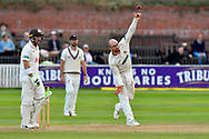 Jack Leach of Somerset bowling during the opening day of the Specsavers County Champ Div 1 match between Somerset County Cricket Club and Surrey County Cricket Club at the Cooper Associates County Ground, Taunton, United Kingdom on 18 September 2018.