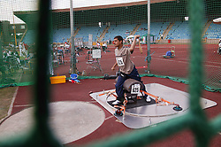 British Open Athletics Championships 2003 games; disabled athlete taking part in a Club event,