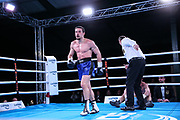 BOXEN: AGON Boxgala, Berlin, 27.02.2021<br /> BDB German Championship<br /> Adam Amkhadov (GER) - Thomas Piccirillo (GER)<br /> © Torsten Helmke