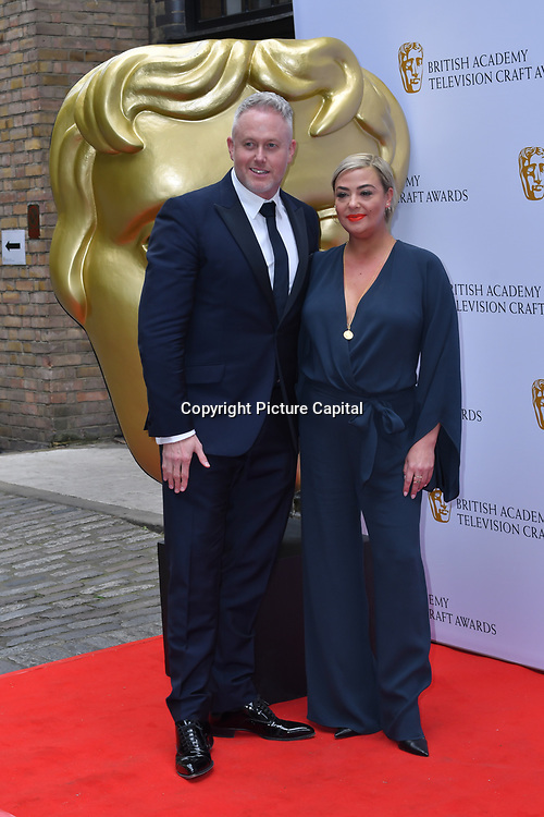 Lisa Armstrong and Jason Gilkison Arrivers at the British Academy Television Craft Awards on 28 April 2019, London, UK.