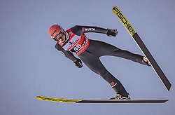 12.01.2019, Stadio del Salto, Predazzo, ITA, FIS Weltcup Skisprung, Val di Fiemme, Herren, 1. Wertungsdurchgang, im Bild Karl Geiger (GER) // Karl Geiger of Germany during his 1st Competition Jump for the Four Hills Tournament of FIS Ski Jumping World Cup at the Stadio del Salto in Predazzo, Itali on 2019/01/12. EXPA Pictures © 2019, PhotoCredit: EXPA/ JFK