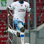Trabzonspor's Ibrahima YATTARA during their Turkish superleague soccer derby match Galatasaray between Trabzonspor at the TT Arena in Istanbul Turkey on Sunday, 10 April 2011. Photo by TURKPIX