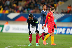 28.03.2016, Stade Mmarena, Le Mans, FRA, UEFA U21 Euro Qualifikation, Frankreich vs Mazedonien, Gruppe 3, im Bild tolisso corentin // during the UEFA U21 Euro qualifier group 3 match between France and Macedonia at the Stade Mmarena in Le Mans, France on 2016/03/28. EXPA Pictures © 2016, PhotoCredit: EXPA/ Pressesports/ Vincent Michel<br /> <br /> *****ATTENTION - for AUT, SLO, CRO, SRB, BIH, MAZ, POL only*****