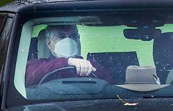 © Licensed to London News Pictures. 31/10/2020. Windsor, UK. Prince Andrew, Duke of York, is seen driving from his home near Windsor Castle. Photo credit: Peter Macdiarmid/LNP