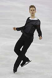 February 17, 2018 - Pyeongchang, KOREA - Michal Brezina of the Czech Republic competing in the men's figure skating free skate program during the Pyeongchang 2018 Olympic Winter Games at Gangneung Ice Arena. (Credit Image: © David McIntyre via ZUMA Wire)