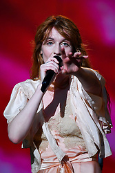 Florence Welch of Florence and the Machine performing during the second day of BBC Radio 1's Biggest Weekend at Singleton Park, Swansea.