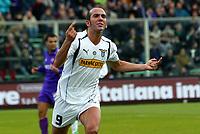 Fotball, Firenze 9-1-05,  Serie A 2004-05 <br /> Fiorentina -  Lazio<br /> Paolo Di Canio celebrates his goal<br /> Foto :Graffiti/ Digitalsport