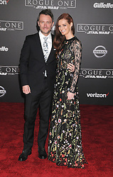 December 10, 2016 - Los Angeles, CA, United States of America - Chris Hardwick and Lydia Hearst arriving at the Star Wars ''Rogue One'' World Premiere at the Pantages Theater on December 10 2016 in Hollywood, CA  (Credit Image: © Famous/Ace Pictures via ZUMA Press)