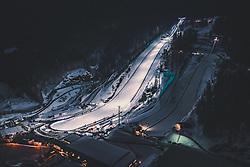 THEMENBILD - die Skiflugschanze Vikersundbakken am Abend im Kunstlicht, aufgenommen am 16. Maerz 2019 in Vikersund, Norwegen // the ski flying hill Vikersundbakken in the evening in artificial light, Vikersund, Norway on 2018/03/16. EXPA Pictures © 2019, PhotoCredit: EXPA/ JFK