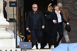 Albert Elbaz leaving the funeral service for late photographer Peter Lindbergh held at Saint Sulpice church in Paris, France on September 24, 2019. Photo by ABACAPRESS.COM
