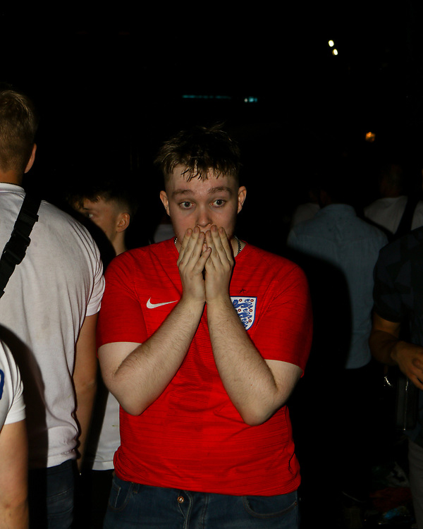 An English supporter holding his hands against his face after Italy wins the Euro 2020 against England. 11/07/2021, Marcin Riehs/Pathos