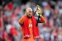 Middlesbrough goalkeeper Darren Randolph applauds the Birmingham fans
