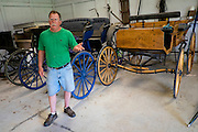 HUSTLE, VIRGINIA - JULY 26: Randy Silvers inside his antique carriage barn on his Rock Spring Farm on Sunday, July 26, 2015 in Hustle, Virginia. Silvers and his wife, Carolyn Berry, are giving away their 18th-century horse farm, that Silvers and his first wife rebuilt and restored, by hand-picking the next owner to the winner of an essay contest. (Photo by Pete Marovich For The Washington Post)
