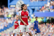 Hector Bellerin of Arsenal looks on. Premier league match, Chelsea v Arsenal at Stamford Bridge in London on Sunday 17th September 2017.<br /> pic by Kieran Clarke, Andrew Orchard sports photography.