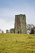 Church ruins in North Creake, Norfolk, England, United Kingdom