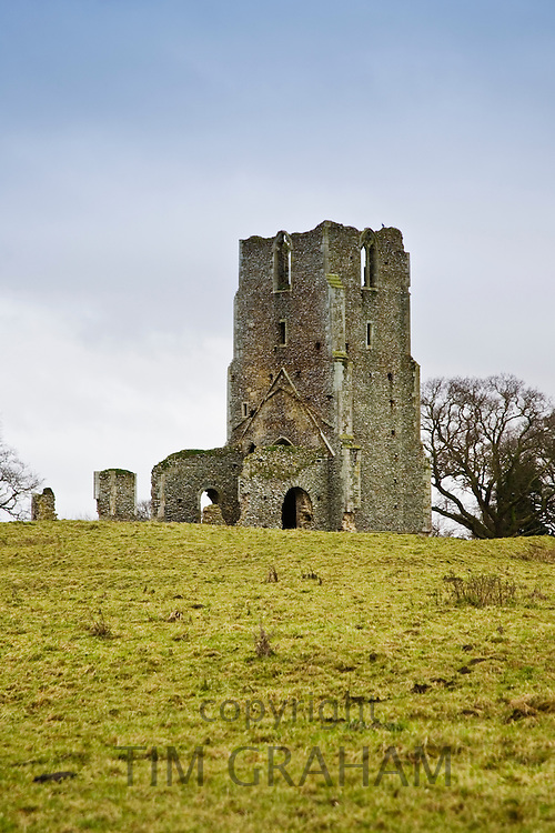 Church ruins in North Creake, Norfolk, England, United Kingdom