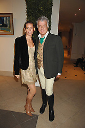 COLETTE VAN DEN THILLART and NICKY HASLAM at a party to celebrate the 60th anniversary of House & Garden magazine held at Bonhams, 101 New Bond Street, London on 4th October 2007.<br />
